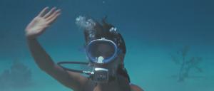...in scuba gear...